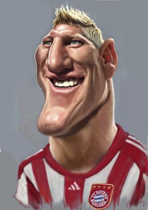 Cartoon: Bastien Schweinsteiger FC Bayern (medium) by Tonio tagged fussball,karikatur,münchen,nationalmanschaft