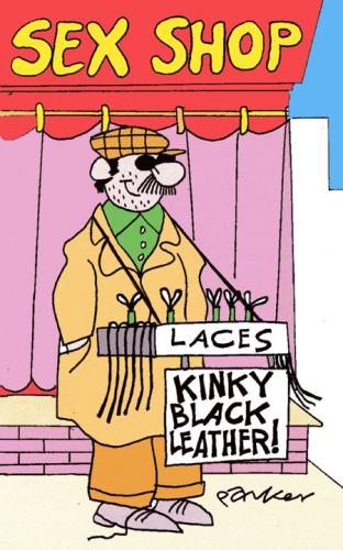 Cartoon Kinky Medium By Daveparker Tagged Shopleatherlacesbusker