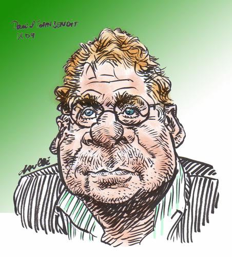 Daniel Cohn-Bendit, cartoon by daulle