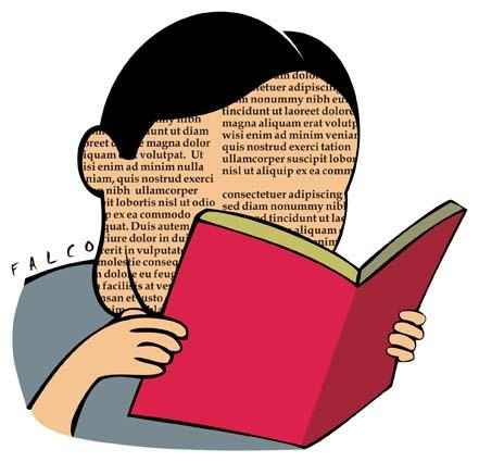 Cartoon: reading (medium) by alexfalcocartoons tagged reader,book,