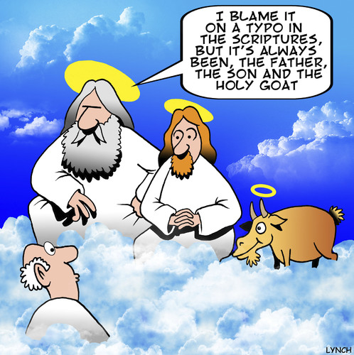 The Holy Goat By Toons Religion Cartoon TOONPOOL