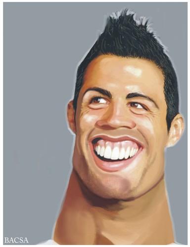 Cartoon: Cristiano Ronaldo (medium) by bacsa tagged ronaldo