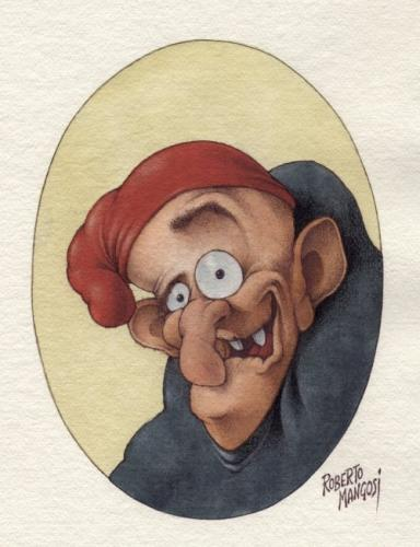 Cartoon: Quasimodo (medium) by Roberto Mangosi tagged portrait