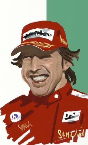 Cartoon: Fernando Alonso (medium) by sanjuan tagged alonso,fernando,ferrari,f1