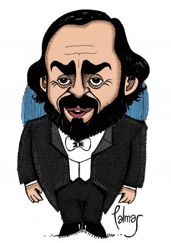Pavarotti By Palmas Famous People Cartoon TOONPOOL