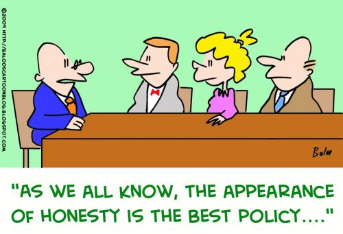 Cartoon: appearance honesty best policy (medium) by rmay tagged appearance,honesty,best,policy