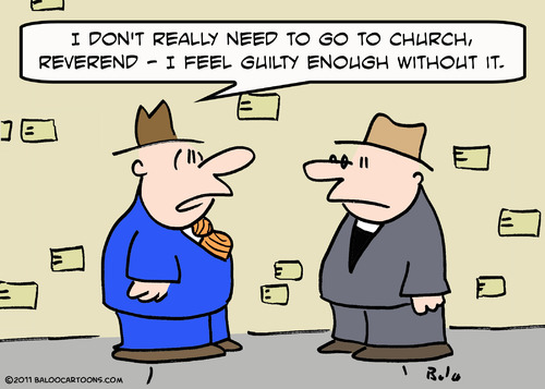 The Church retains its hold over the masses by inducing guilt. |  Cartoon By Rex F. May; Uploaded on February 02, 2011; source & courtesy - toonpool.com | Click for larger source image.