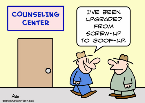 Cartoon: counseling upgraded screw goof (medium) by rmay tagged counseling,upgraded,screw,goof