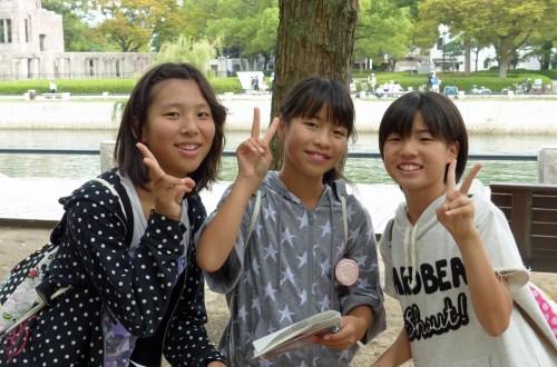 School children in the Hiroshima Peace Park