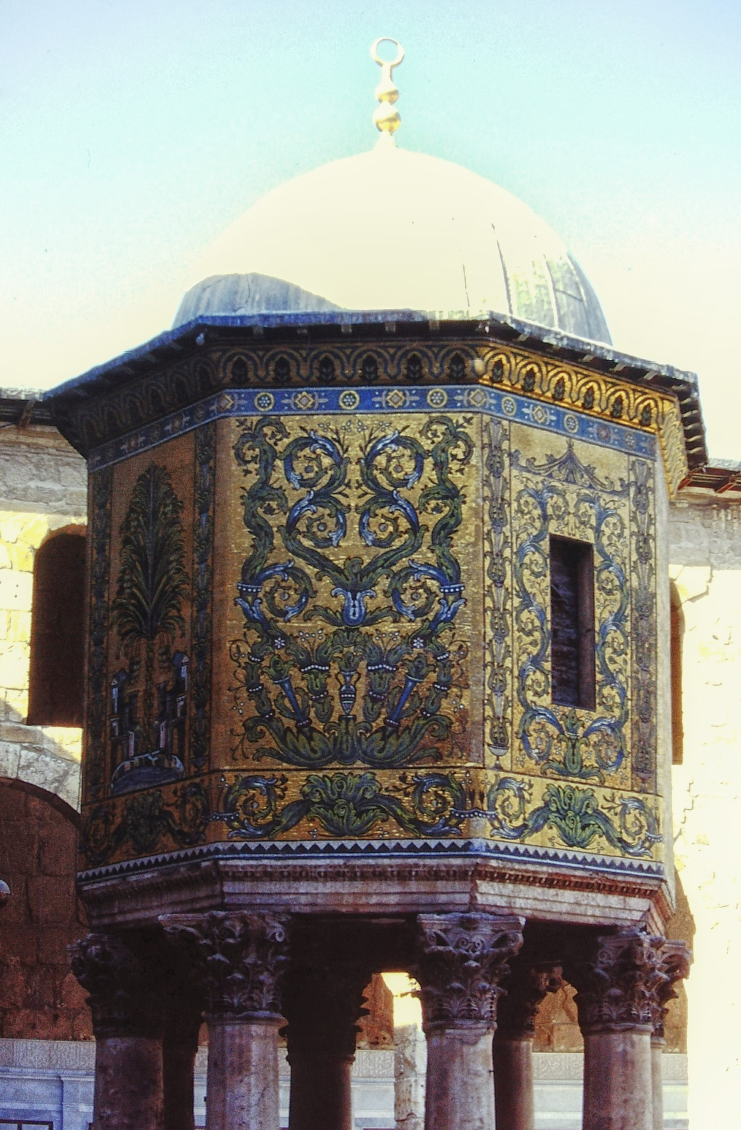Ornate mosque building
