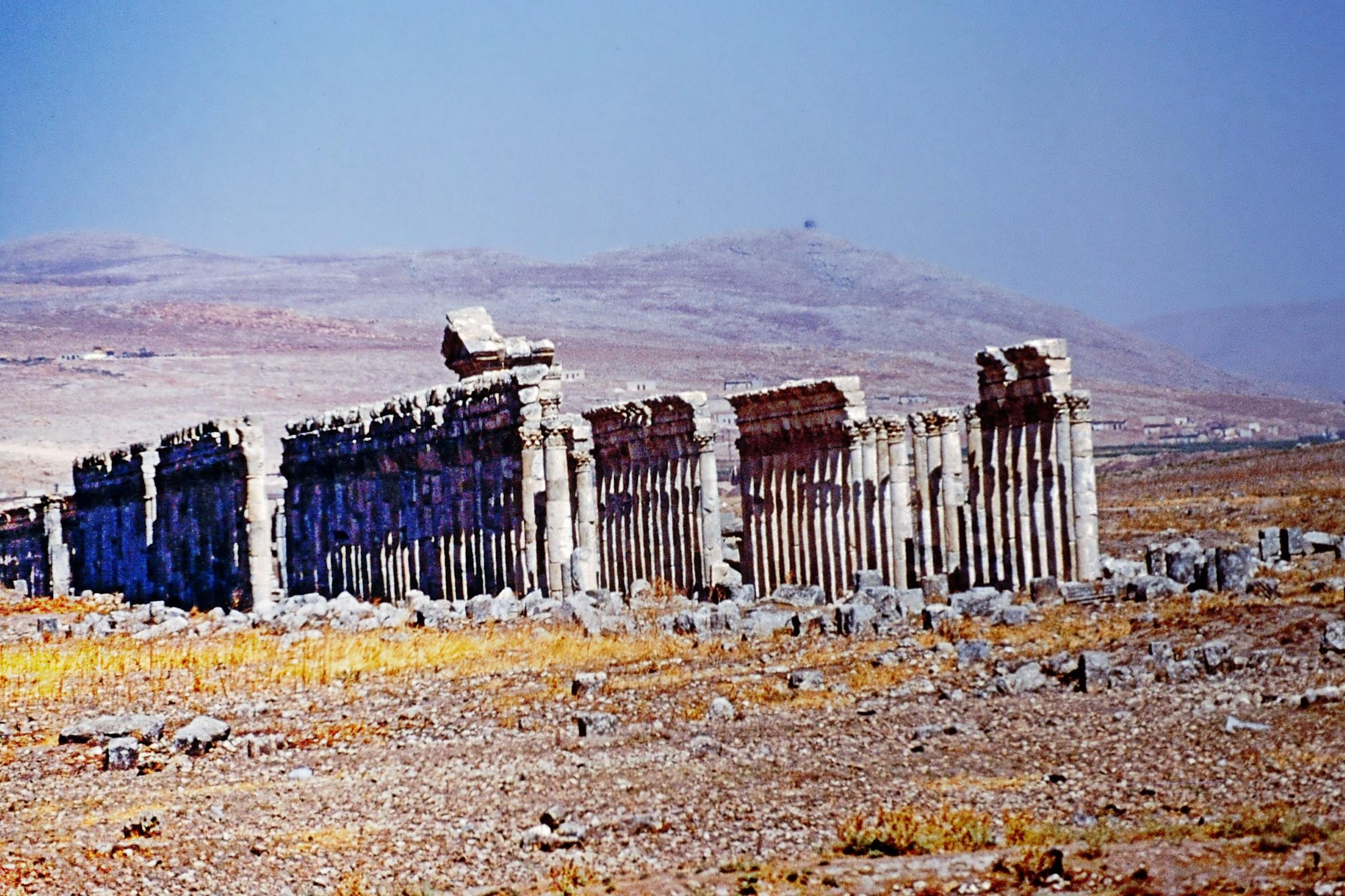 Long row of Roman columns