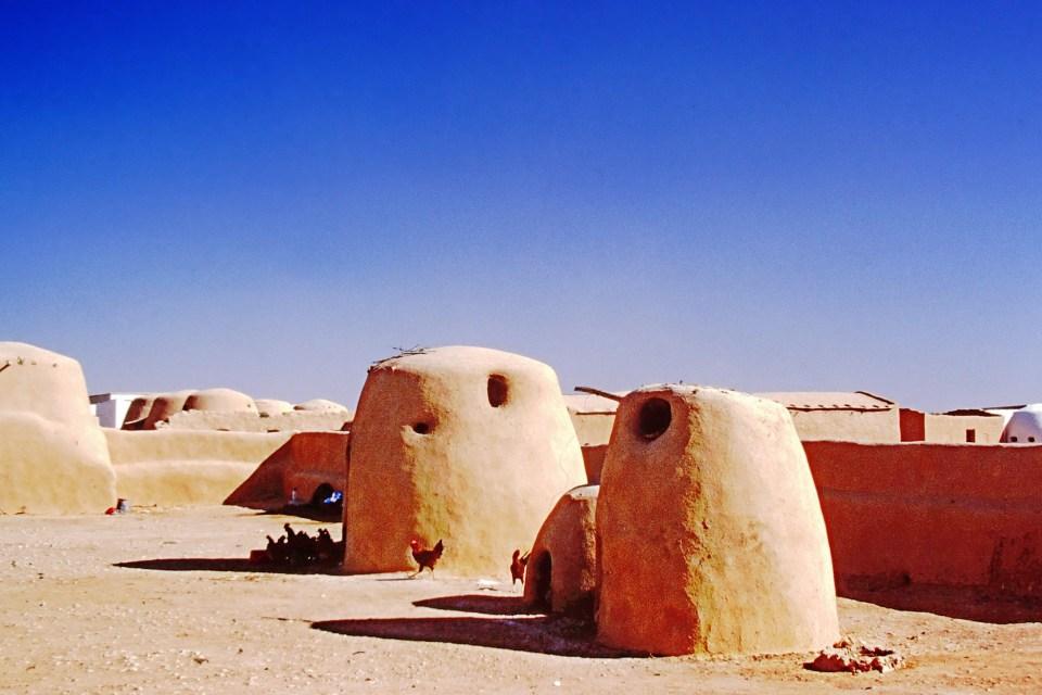 Small mud brick houses