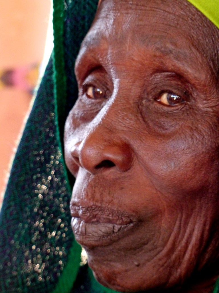 Close-up of elderly African woman