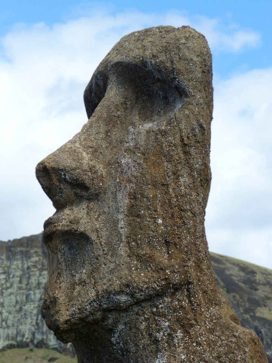 Profile of moai