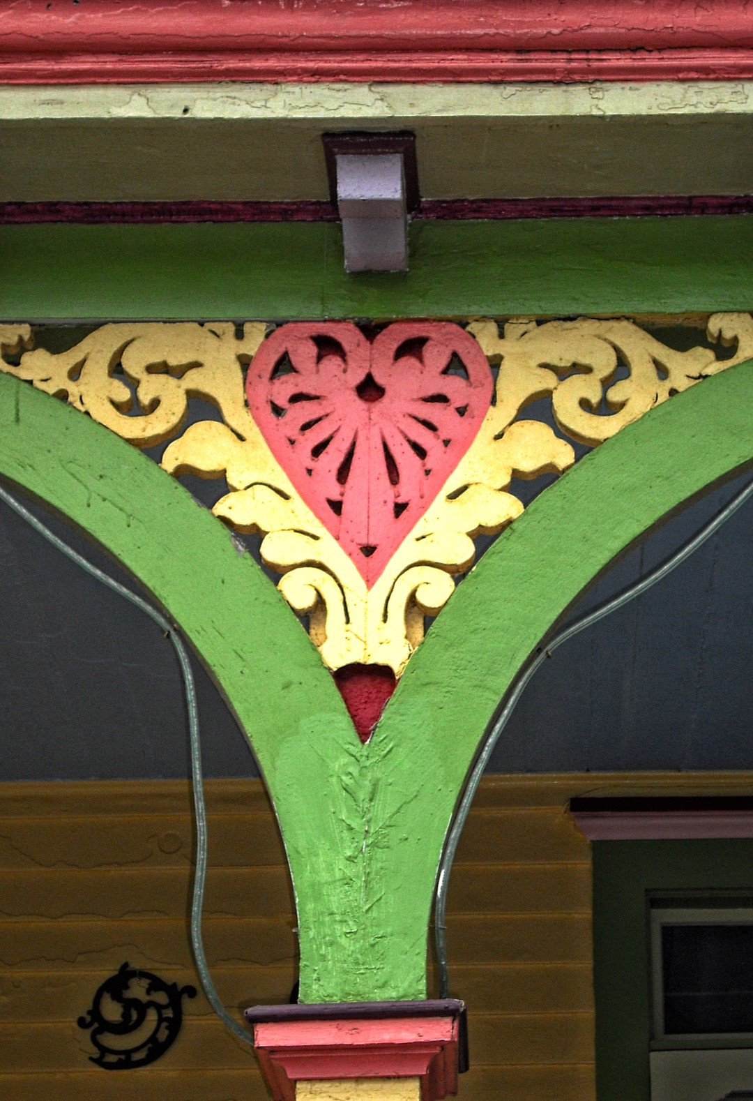 Detail of wooden trim, Victorian house