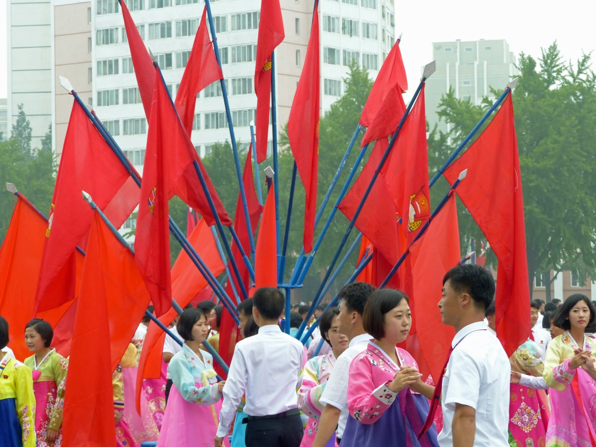 Red flags and dancers