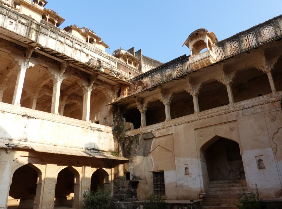 Courtyard with arcaded rooms around it
