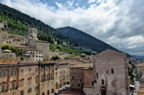 Looking over an Italian hill town