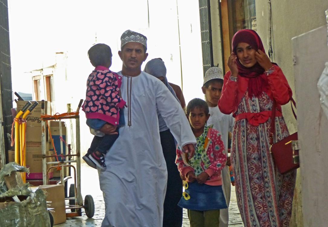 Family in Arab dress