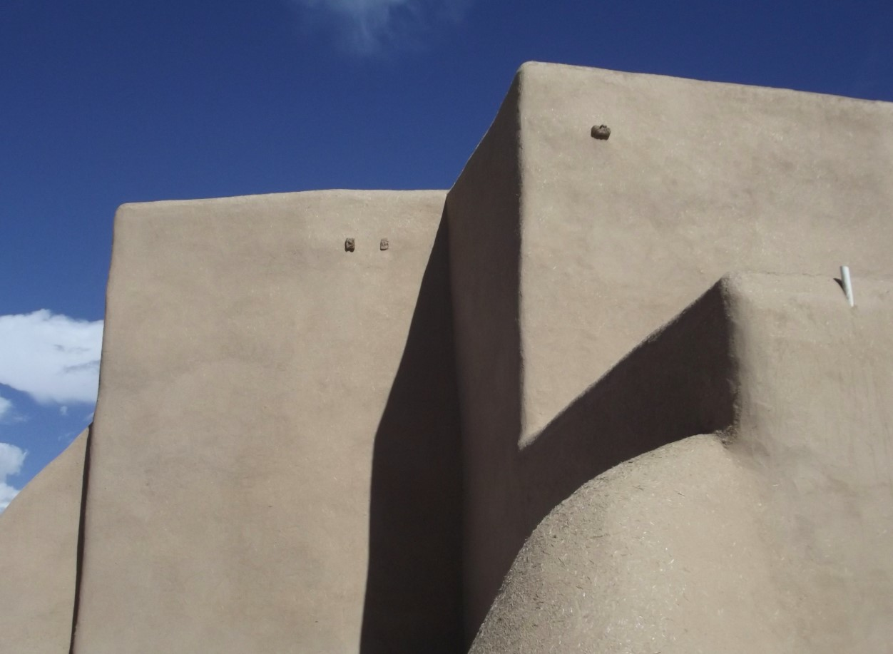 Part of an adobe building