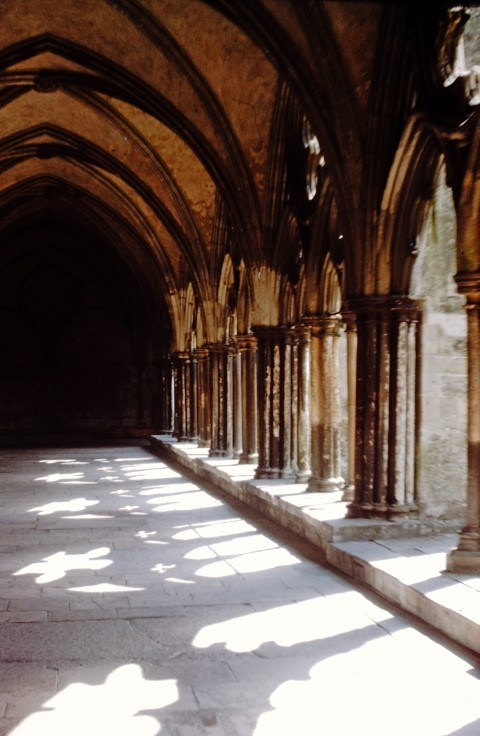 Cloisters with shadows of arches