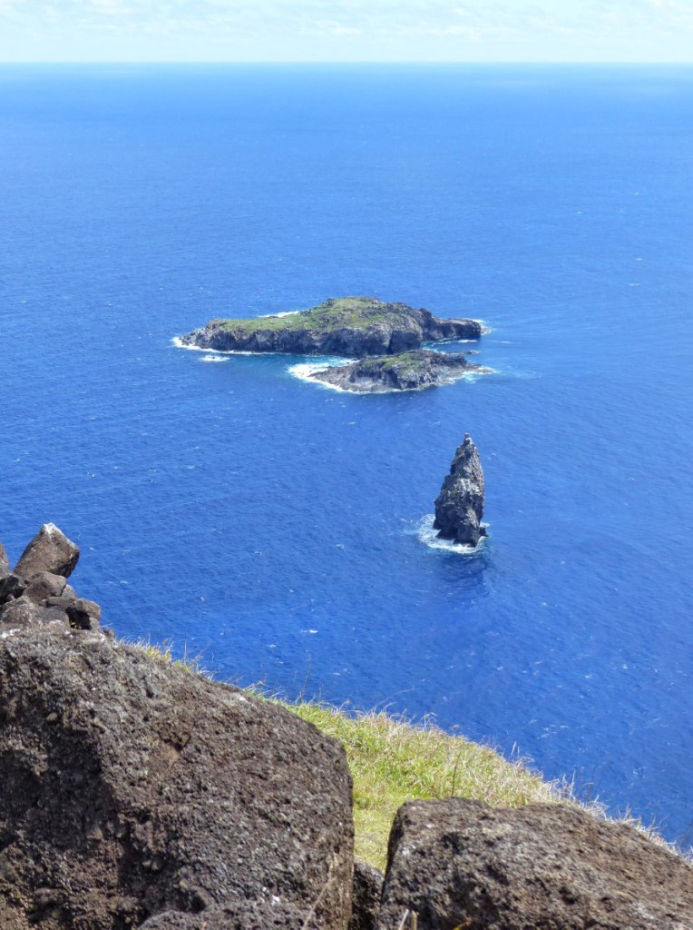 Rocky islets seen from a cliff