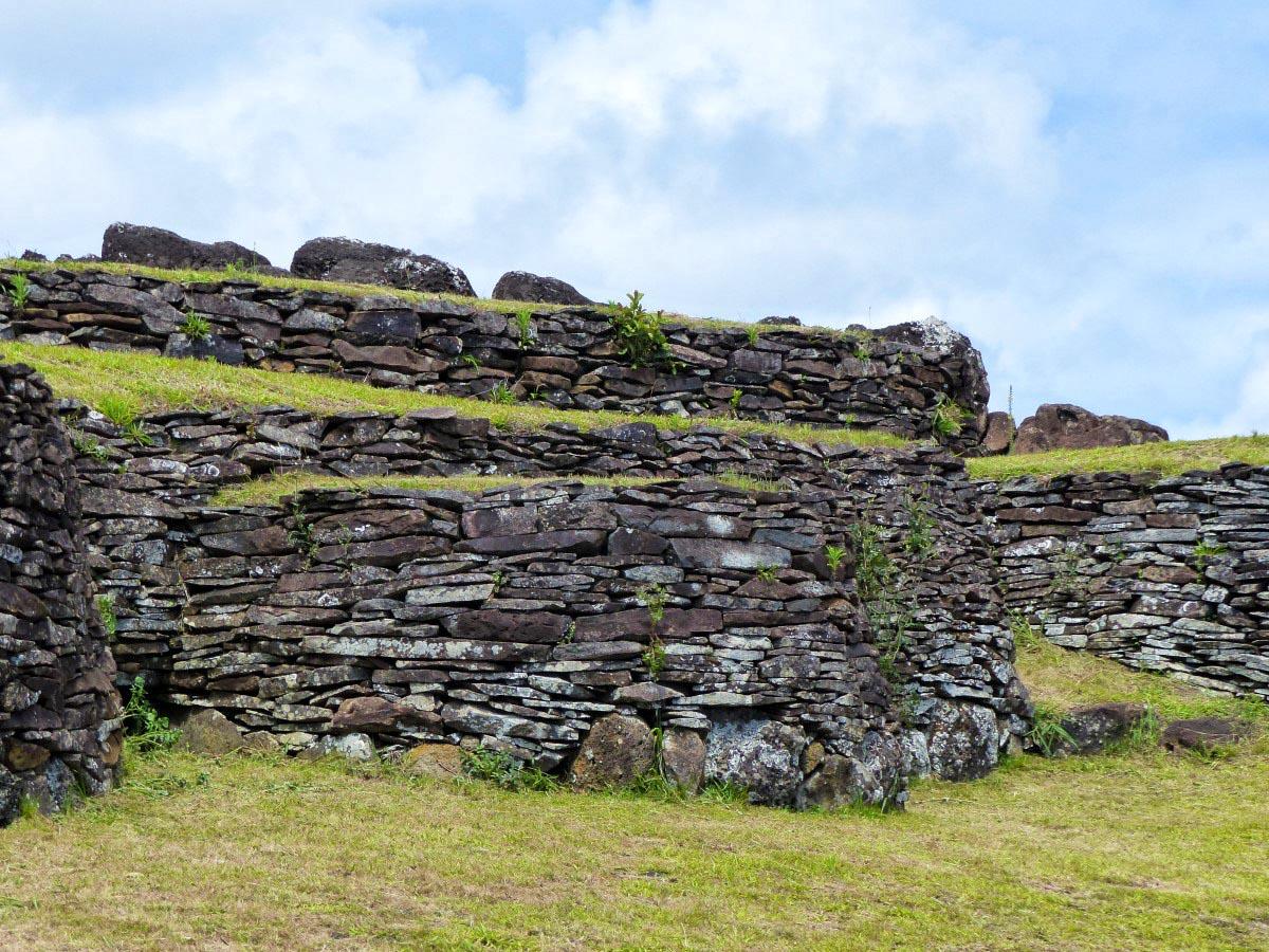 Low stone houses