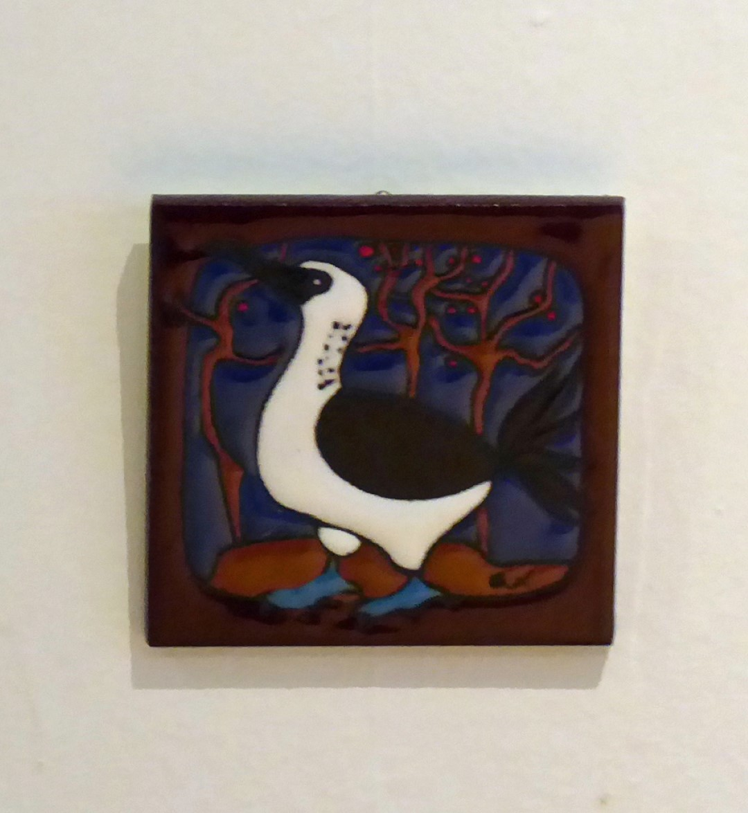 Tile with Blue-footed Booby
