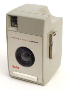 Old beige plastic camera