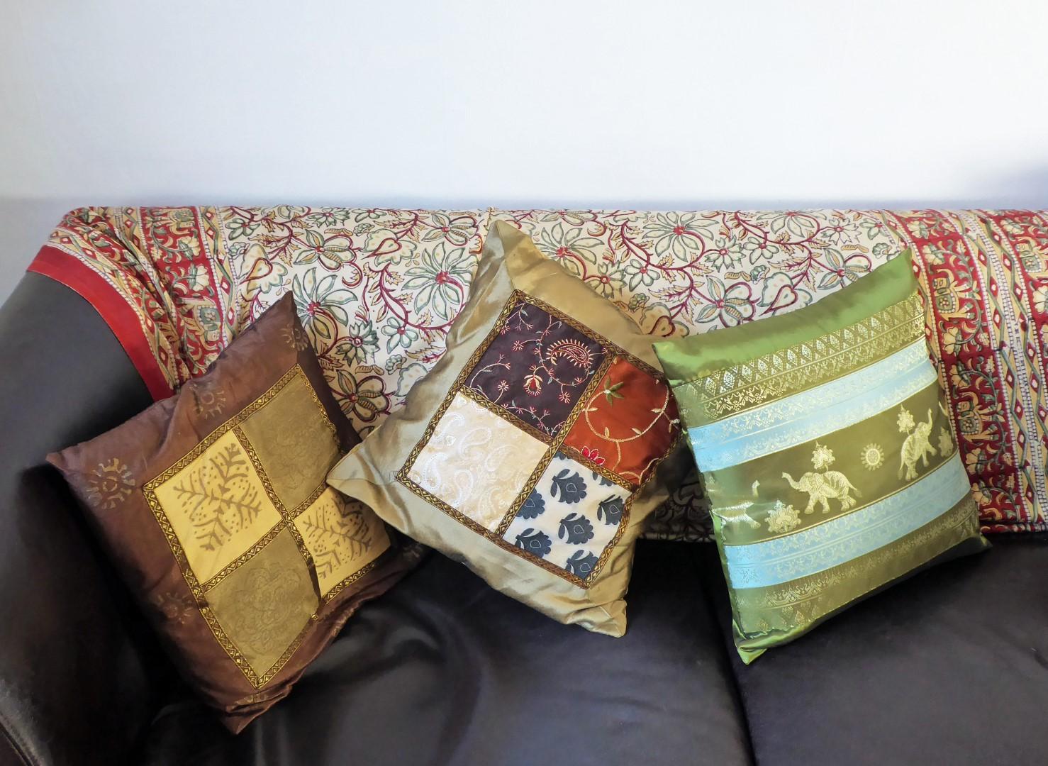 Cushions on a sofa