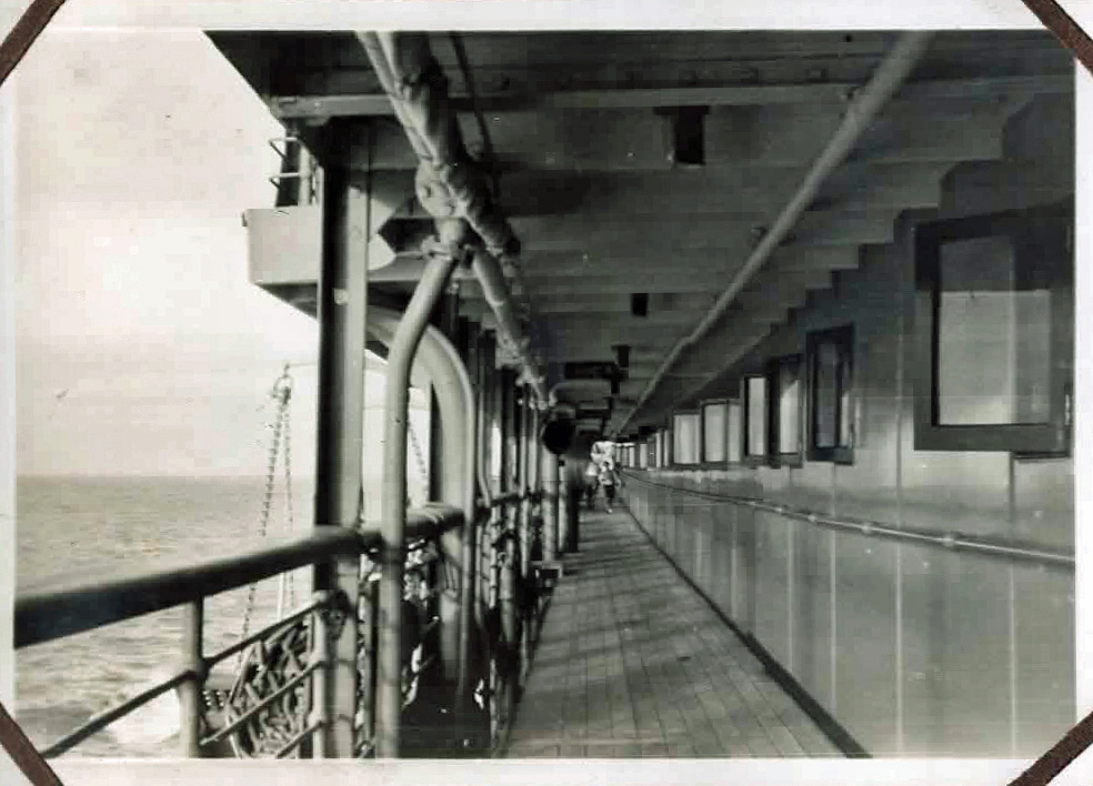 Old photo of a cruise ship