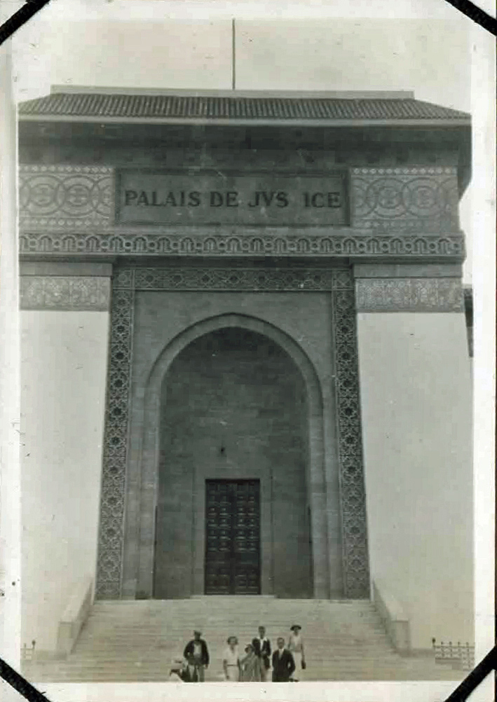 Old photo of imposing building
