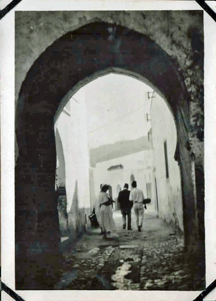 Old photo of ancient gateway
