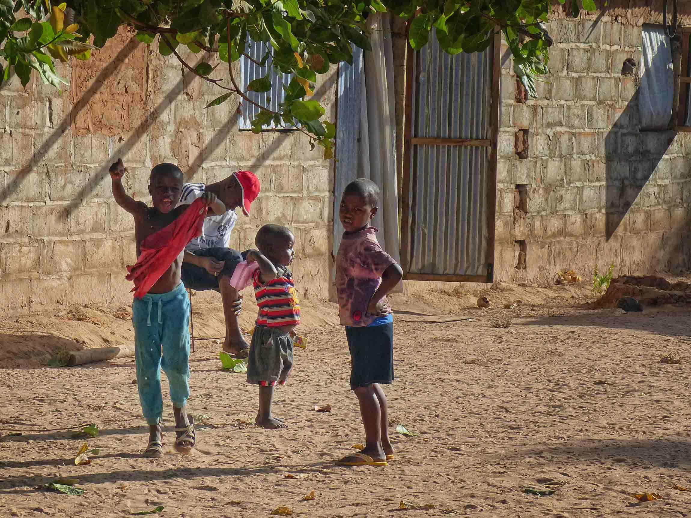 Children in an African village street