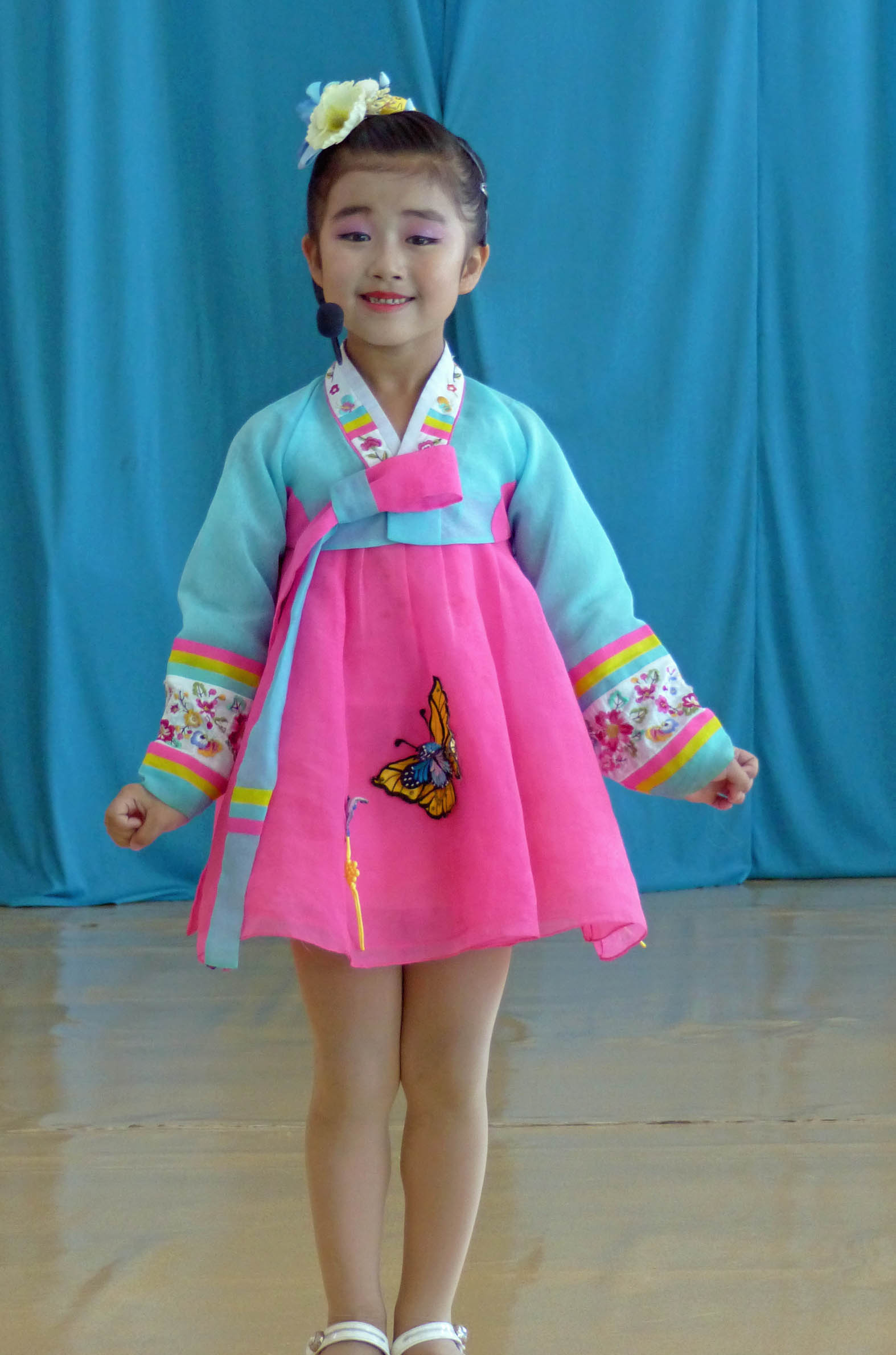 Young girl in traditional dress