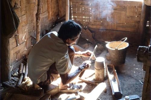 Blacksmith crouching