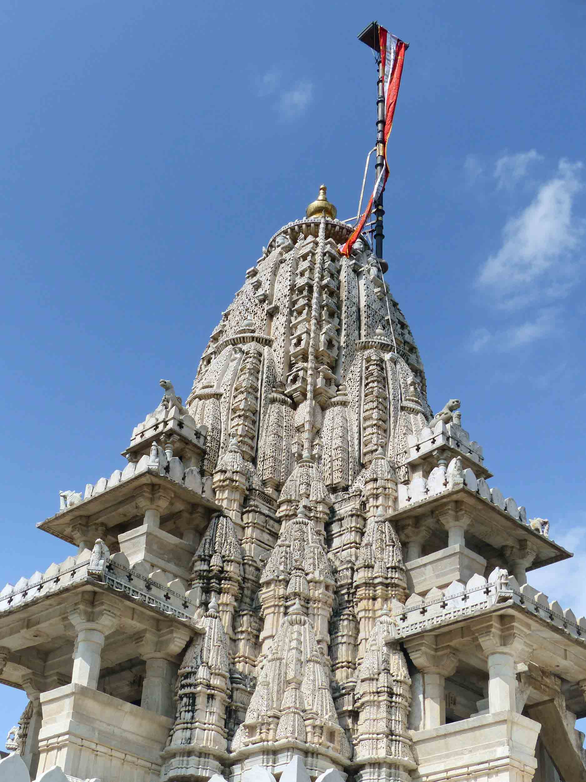 Intricate carved white spire