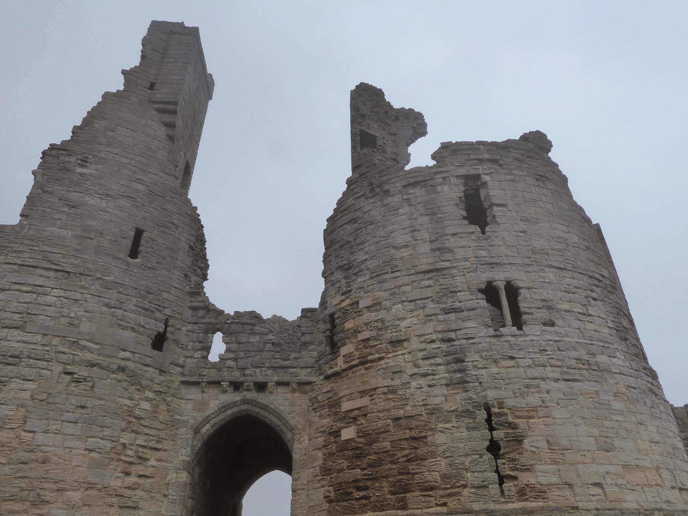 Castle gatehouse, partly ruined
