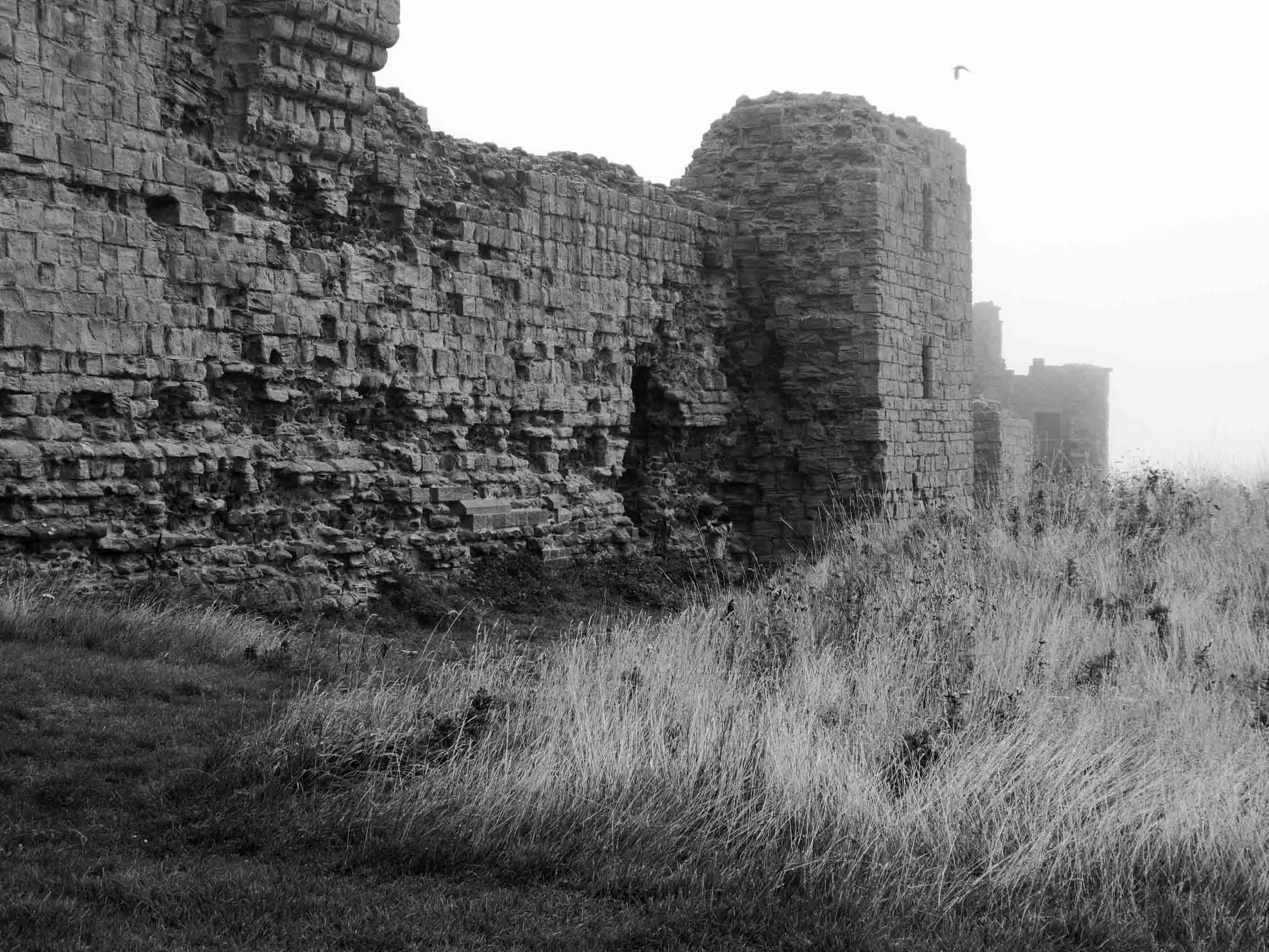 Castle wall, black & white shot