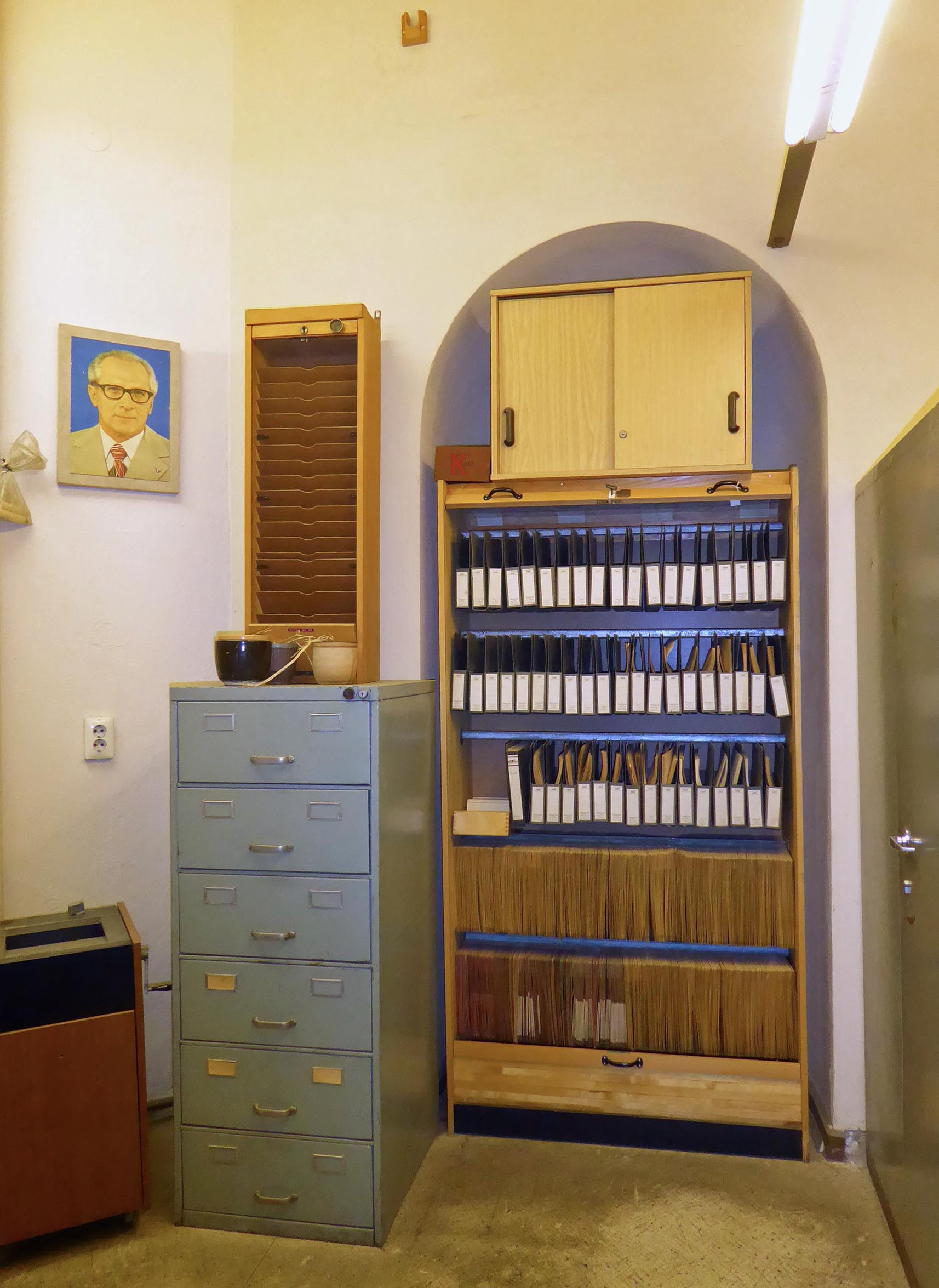 Old office with filing cabinets