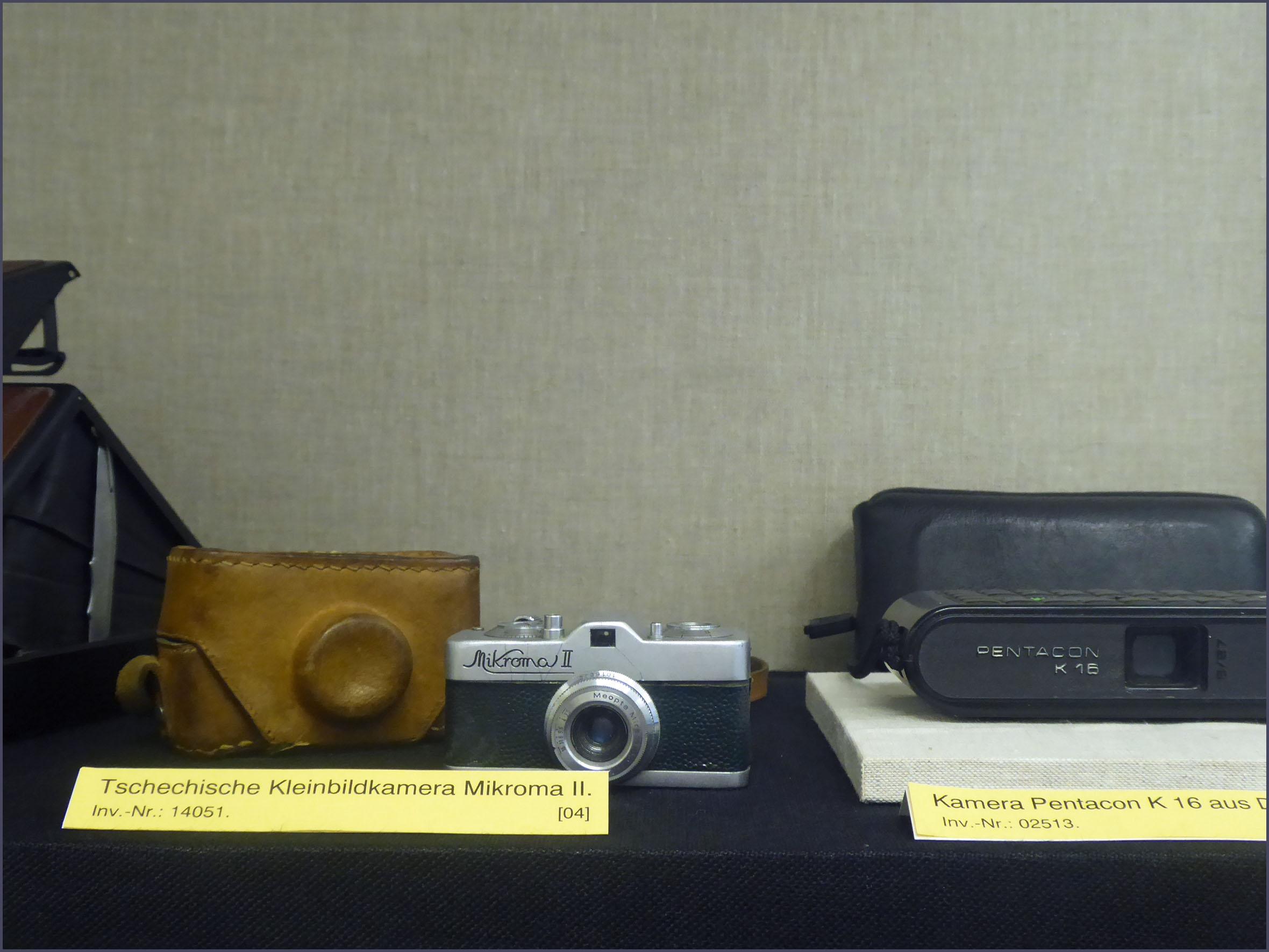 Display of tiny cameras