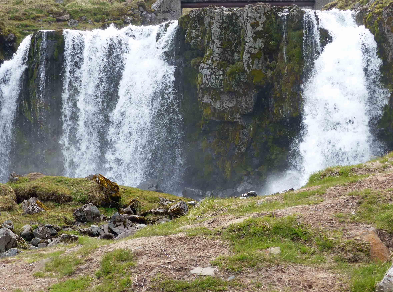 Wide low waterfall