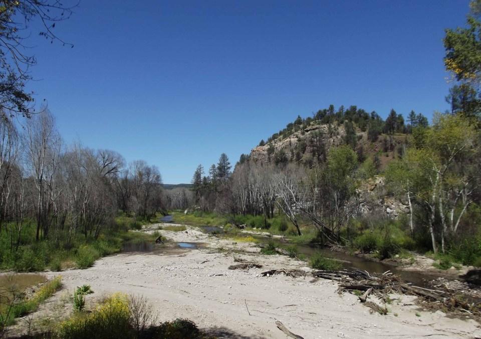 Sandy river bed