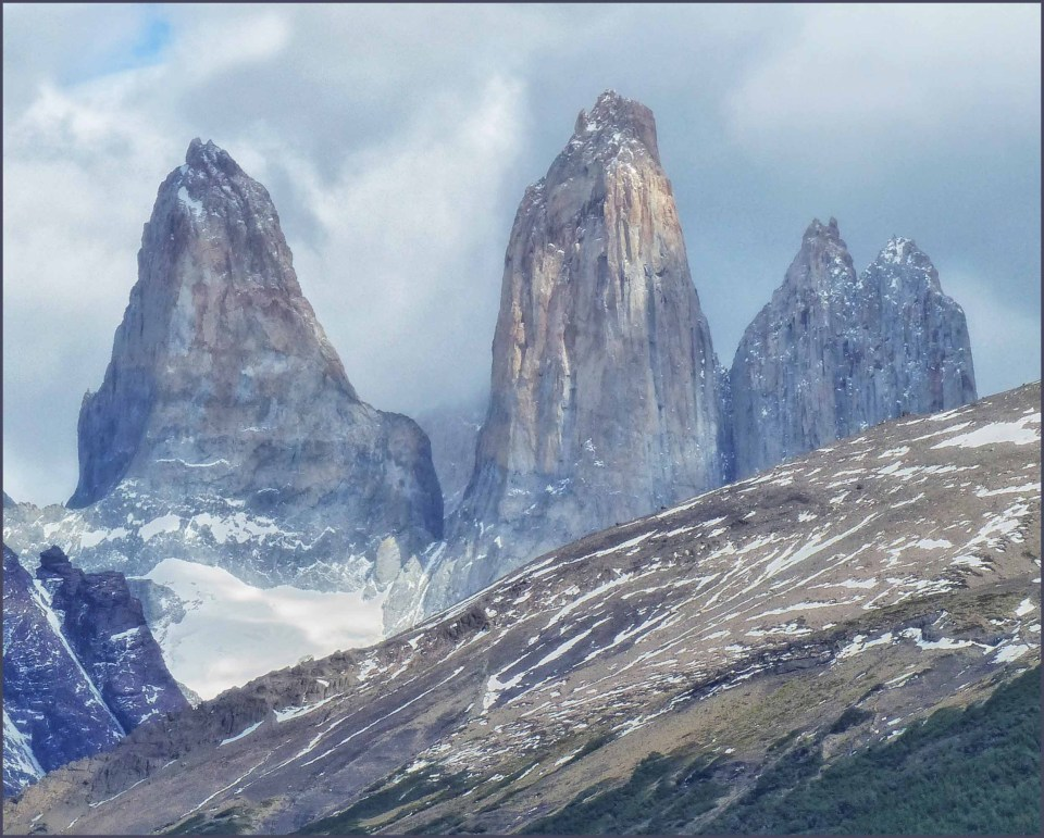 Tall pointed mountains