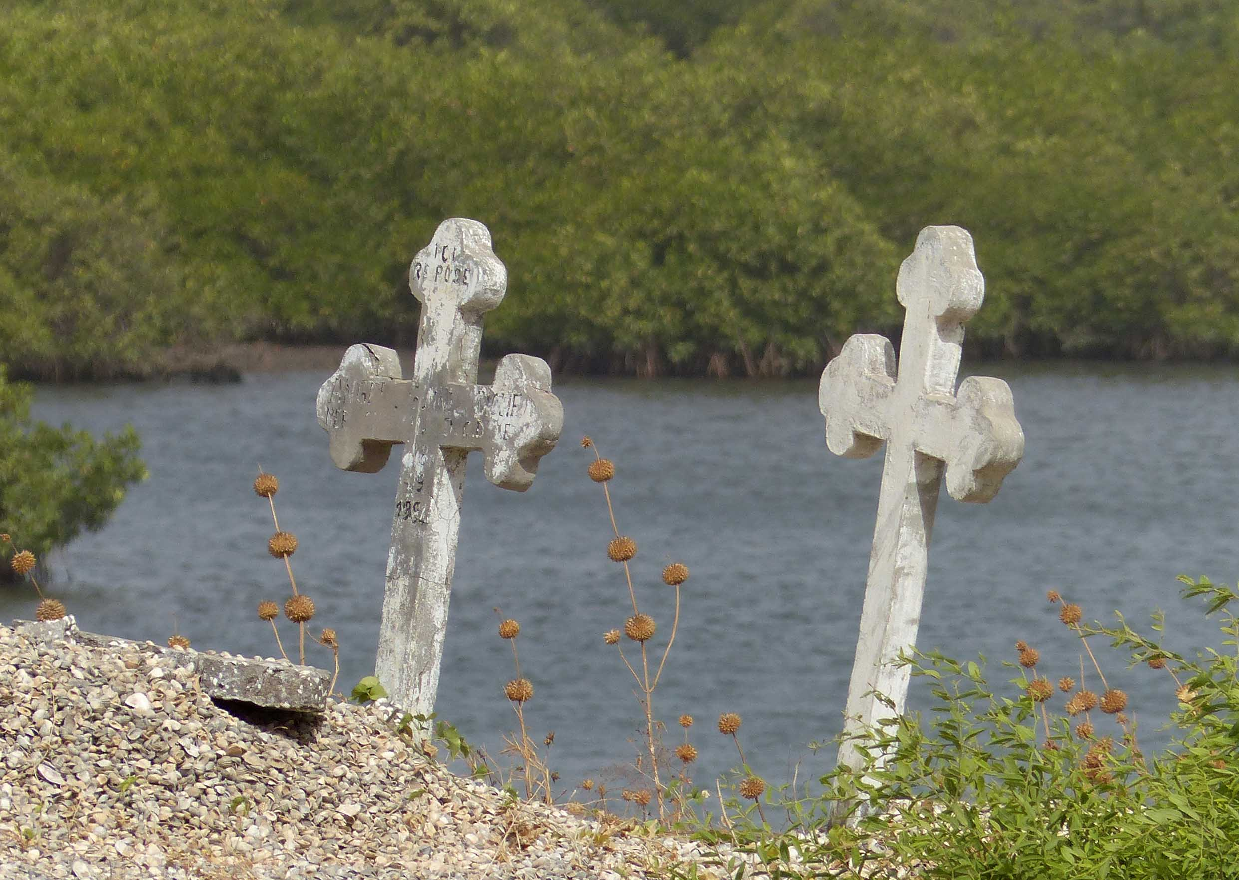 Two crosses by the sea