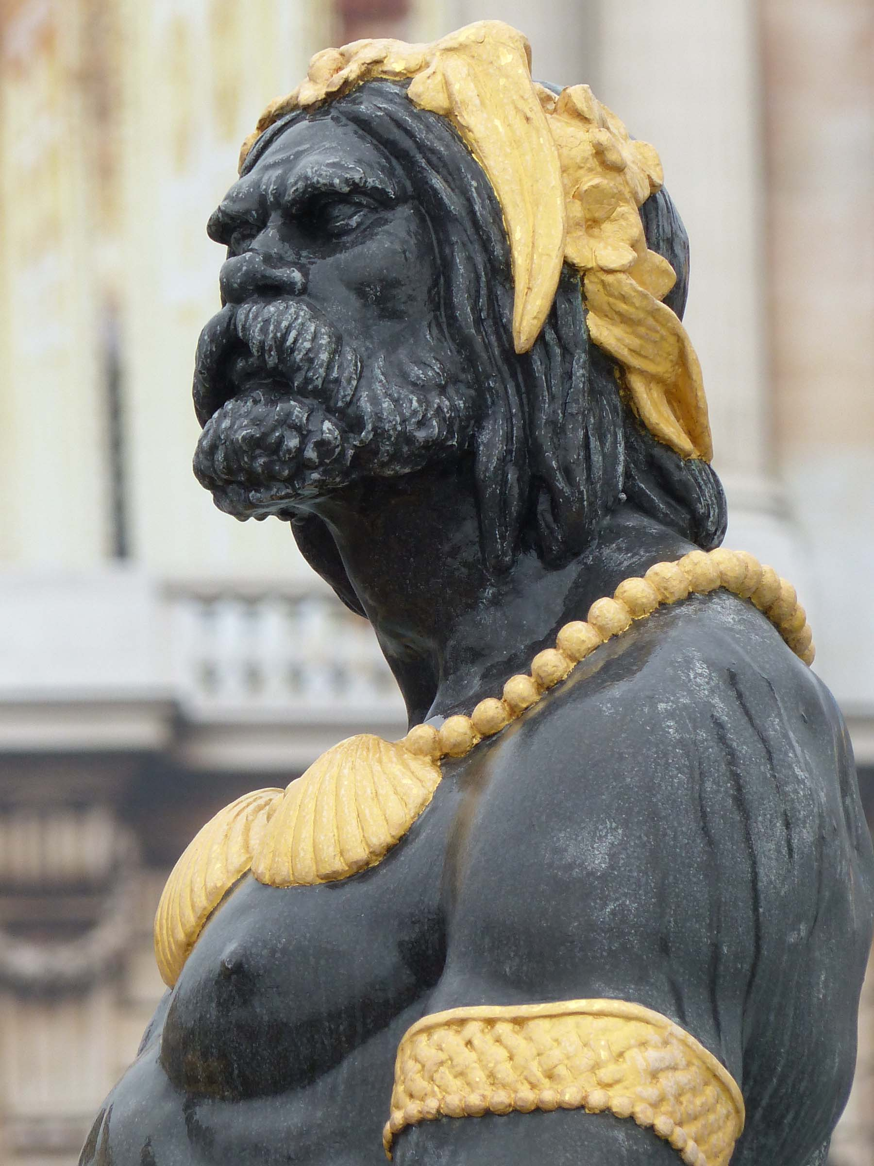 Figure of a man with gold headdress