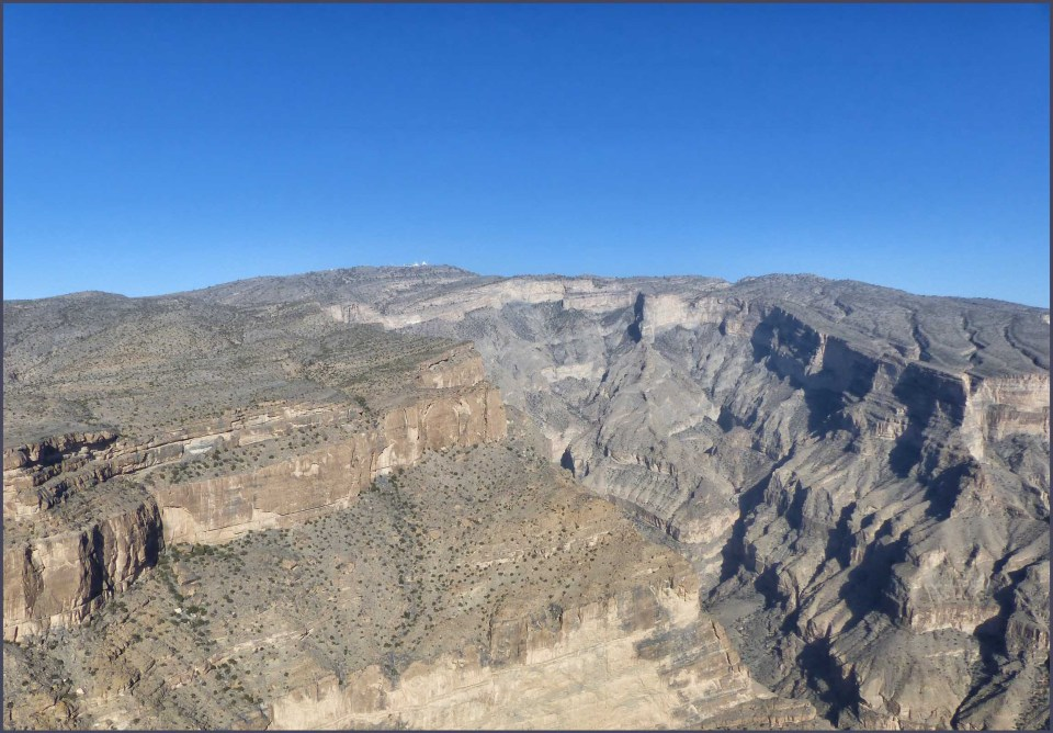 Rocky landscape with gorge