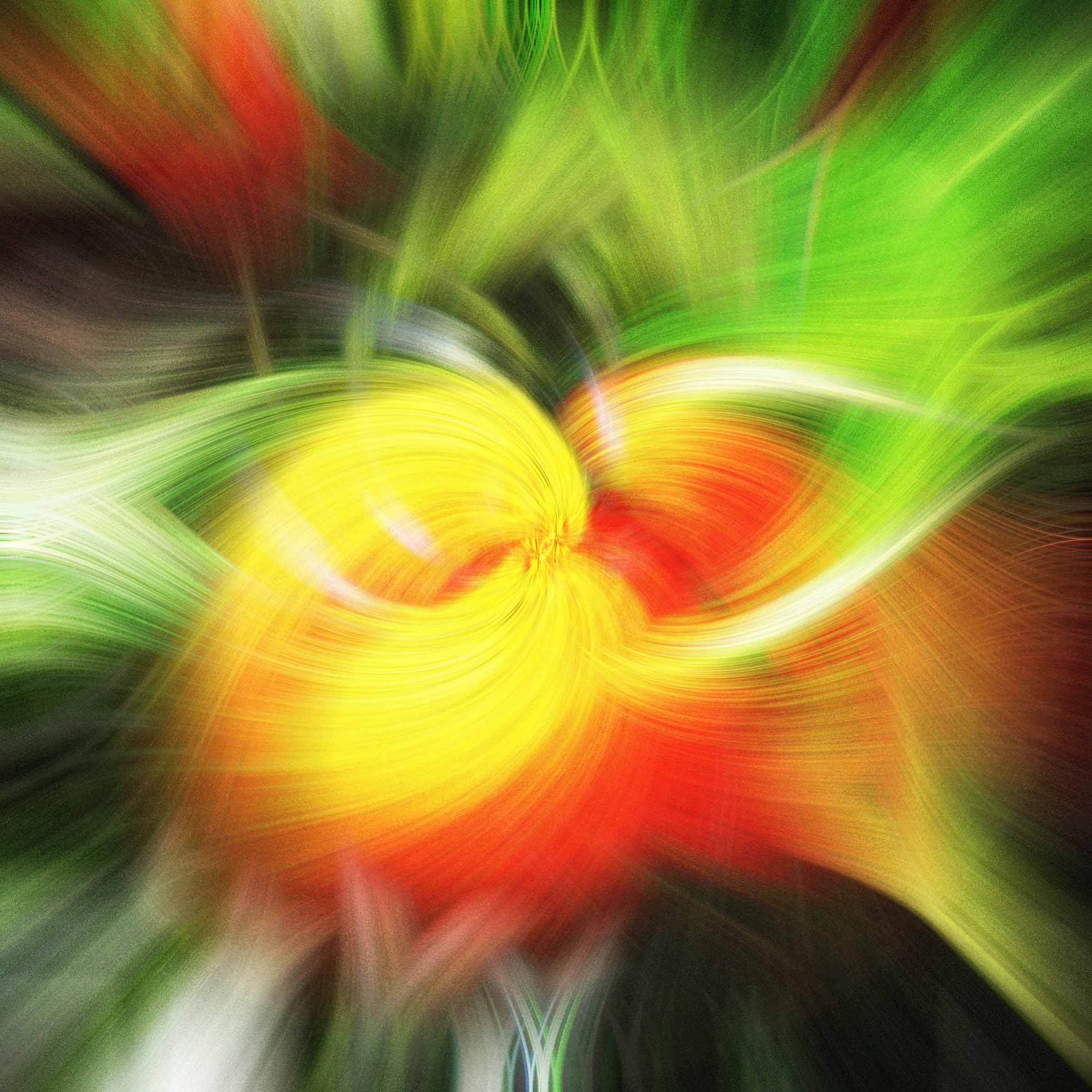 Green and yellow twirl effect image
