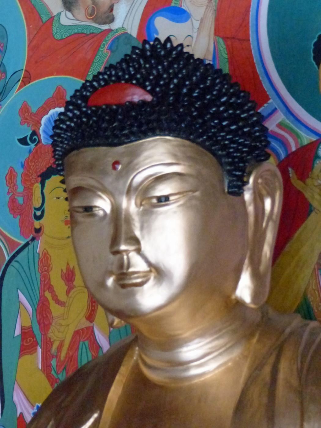 Head of a gold Buddha