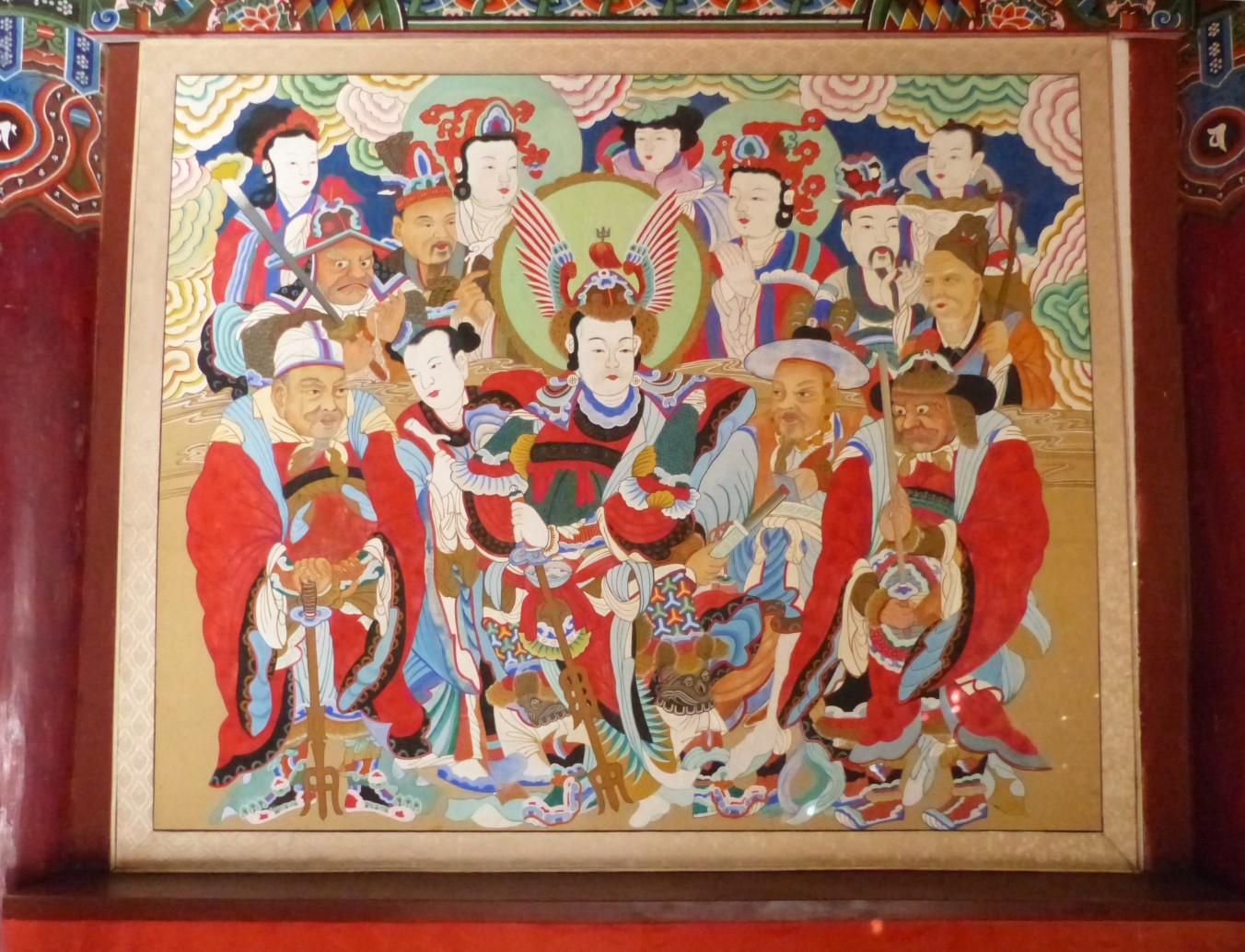 Colourful painting in oriental style